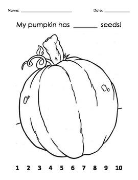 Halloween Pumpkin Math for Kindergarten