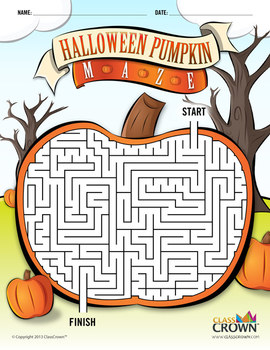 This is a picture of Inventive Halloween Maze Printable