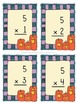 Halloween Pumpkin Multiplication Flashcards