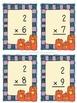 Halloween Pumpkin Multiplication Flashcards