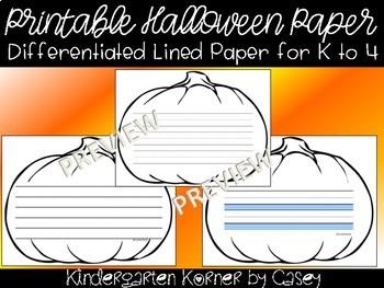 Halloween NO PREP Printable Pumpkin Writing Templates 10 Formats K 1 2 3 4