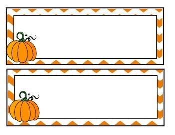 Halloween Pumpkin Name Tags/Labels