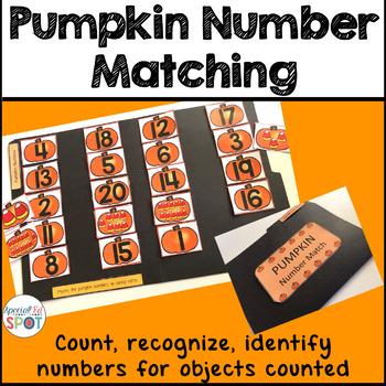 Halloween Pumpkin Number Matching Activity