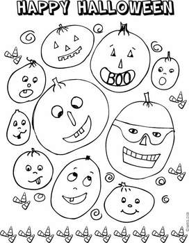 Halloween Pumpkin Patch Coloring page ** ORIGINAL ARTWORK