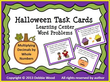 SMARTboard Halloween Math Bundle:  Multiplying Decimals by Whole Numbers