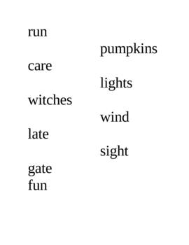 Halloween: Pumpkin Poem