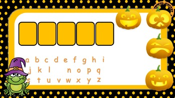 Halloween Pumpkin Pop Hangman Template