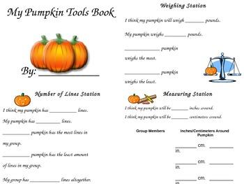 Halloween Pumpkin Science:  Using Tools and Mini Pumpkins