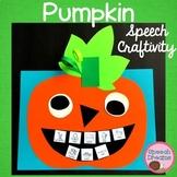 Halloween Speech Therapy Craft Pumpkin Articulation
