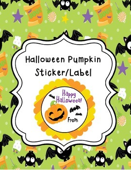 Halloween Pumpkin Tags/Stickers/Labels
