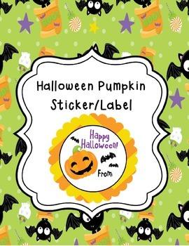Halloween Pumpkin Tags/Stickers/Labels