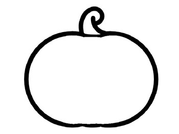 Halloween Pumpkin Template for Craft Pumpkin Outline Pumpkin Templates