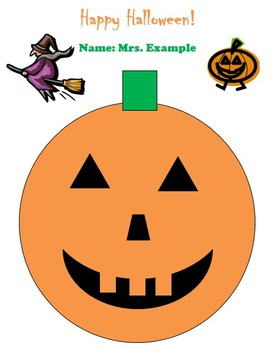 Halloween Pumpkin Version 2 Technology Lesson Plan & Materials
