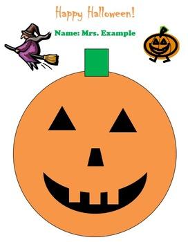 Halloween Pumpkin Version 2 Technology Lesson Plan & Materials
