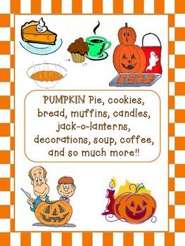 Halloween Pumpkin Writing Activity