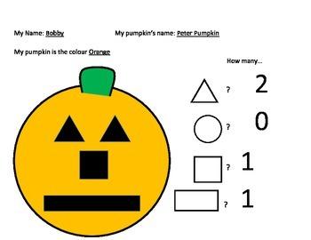 Halloween Pumpkin and 2D Shapes