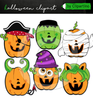 Halloween Pumpkin clipart commercial use+bw