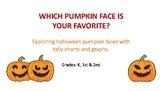 Halloween Pumpkin faces tally charts and graphs.