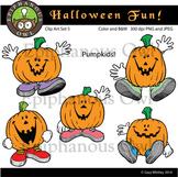 Halloween Pumpkins Clip Art Set 5