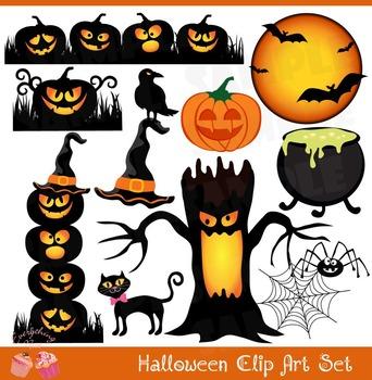 Halloween Pumpkins Clipart Set