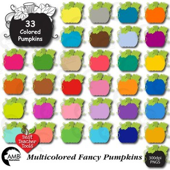 Halloween Pumpkins, Fancy Pumpkin Clipart, {Best Teacher Tools} AMB-105