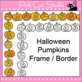 Halloween Pumpkins Frame / Border Clip Art - Page Borders and Frames