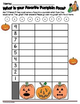 Halloween & Pumpkins Math Graphing Activities Center Set