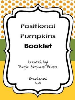 Halloween Pumpkins Positional Words Booklet