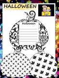 Pumpkins - Halloween - Writing Activity -  Bulletin Board - Black and White