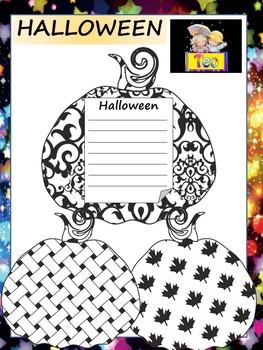 Pumpkins - Halloween - Writing Activity -  Bulletin Board