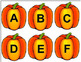 Halloween - Pumpkins and Cats Upper and Lowercase Match Game