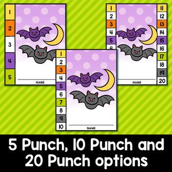 Halloween Punch Cards Editable Classroom Decor