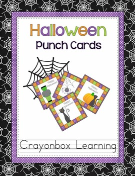 Halloween Punch Cards {Reading or Positive Behavior Rewards}