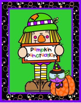 Halloween Punctuation Cupcakes