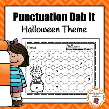 Halloween Punctuation Dab It Worksheets