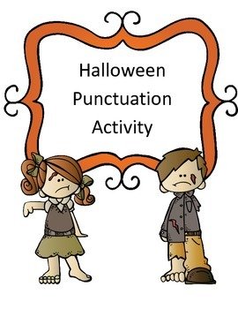 Halloween Punctuation (Inserting Periods) Activity