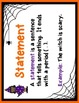 Punctuation Task Cards (Questions, Statements, Exclamations) - Halloween Theme