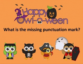 Halloween Punctuation Task Cards