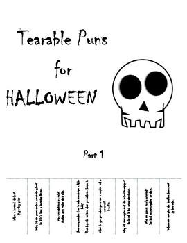 Halloween Puns by Scaffolded to a Tee | Teachers Pay Teachers
