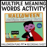 Multiple Meaning Words Halloween Puns