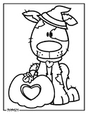 Halloween Pup Coloring Page