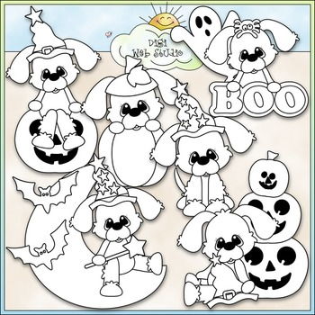 Halloween Puppies Clip Art - Halloween Clip Art - CU Clip Art & B&W