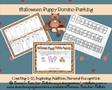 Halloween Puppy Domino Parking Math Counting Center Common Core {K.CC.1} FREEBIE