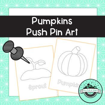 Pumpkins Push Pin Art