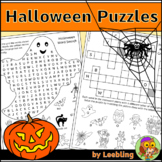 Halloween Puzzle Activities - Crossword, Word Search and More