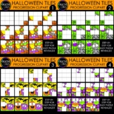 Halloween Puzzle Clipart Tile Progressions