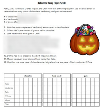 Halloween Logic Puzzles - 2 Critical Thinking Puzzles in the Bundle!