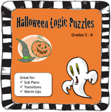 Halloween Logic Puzzles - 2 Critical Thinking Puzzles in t