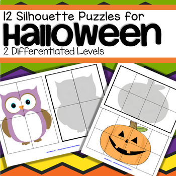 Halloween Shadow Matching Puzzles - Spatial Awareness