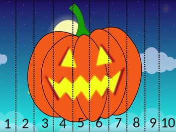 Halloween Puzzle Numbers 1-10